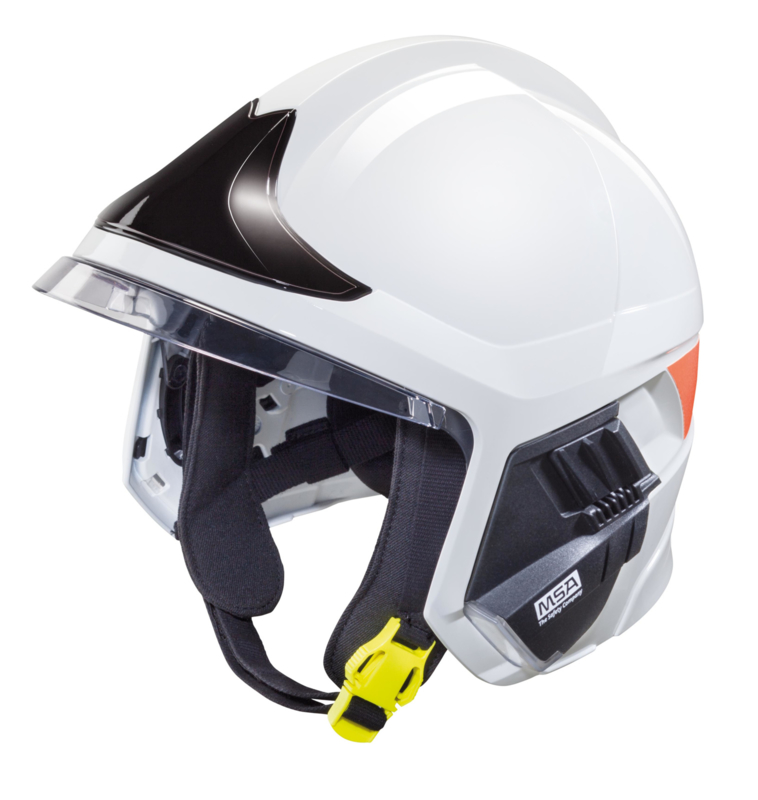 Msa Gallet F1 Xf Helmet White With Black Front Plate Msa Fire Helmets Msa Safety Shop
