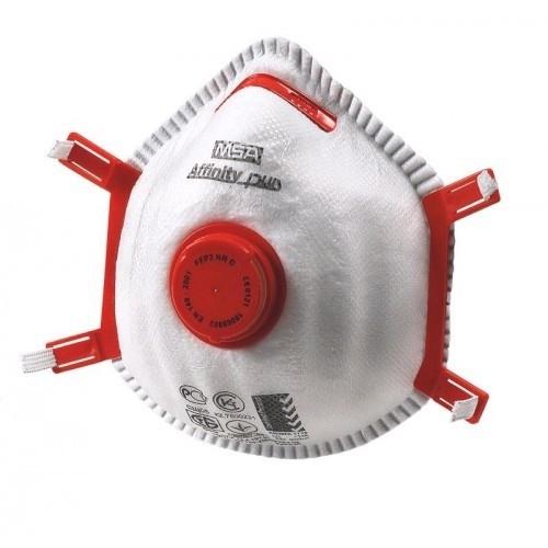 red disposal mask