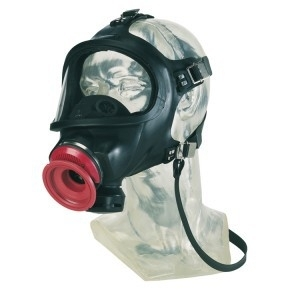 full face mask respirator with head cover
