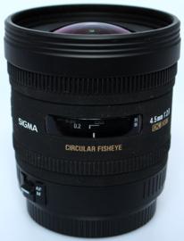 Sigma 4,5mm f2,8 Fisheye ( circulair ) DC HSM