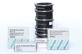 Mamiya 645 extension rings