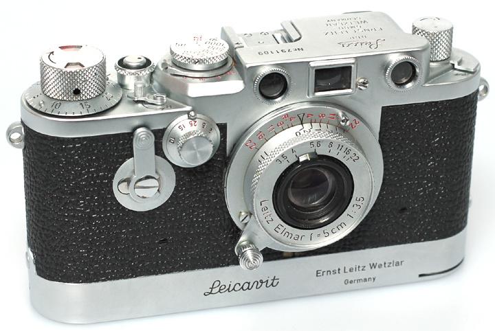"""Leica III-F + 5cm f3,5 Elmar """"Red Dial"""""""