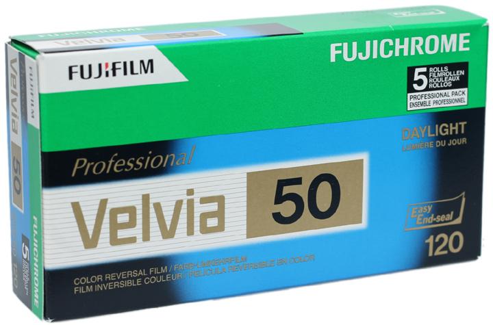 Fujicolor Velvia 50 120 vijfpak