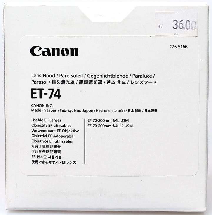 Canon ET-74 zonnekap