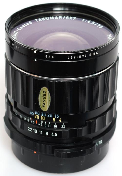 Asahi Pentax 6X7 Takumar 75mm f4,0 SMC