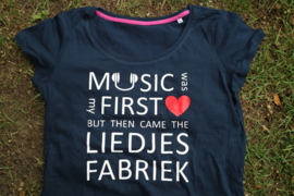 T-shirt (vrouw) Music was my first love