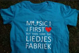 T-shirt (man) Music was my first love