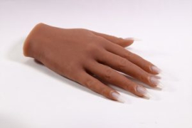Silicone Oefen Hand Pose Able  Rechts TAN