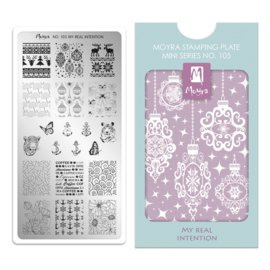 Moyra Mini Stamping Plate 105 My Real Intension