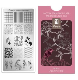 Moyra Mini Stamping Plate 103 Birds Always Sing