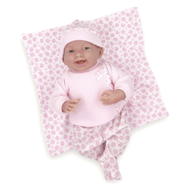 Berenguer Boutique doll 39 cm - 18788 The newborn with pink outfit, blanket and accessories