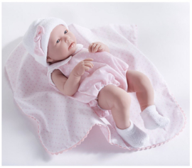 Berenguer Boutique doll 43 cm - 18109 La newborn (girl) with pink outfit and blanket