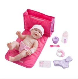 La Newborn Doll- Diaper bag gift set