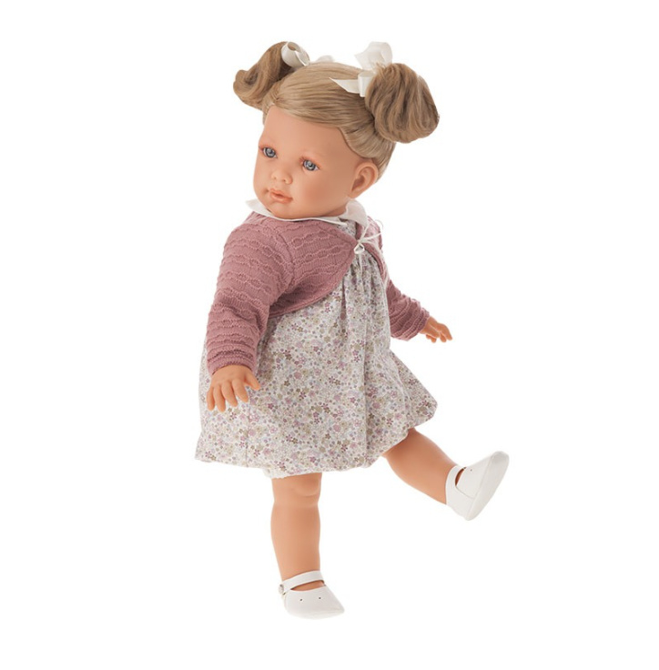 Antonio Juan doll 55 cm - Blonde Lula with two pigtails