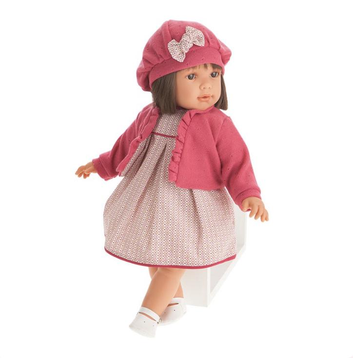 Antonio Juan doll 55 cm - Brunette Lula with beret