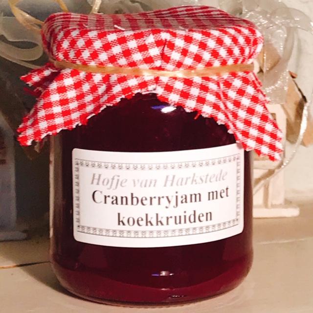 Cranberryjam met koekkruiden