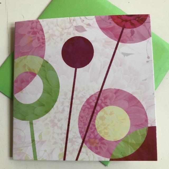 Abstracte bloemenkaartje
