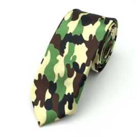 Carnaval & Feest Stropdas Leger Camouflage