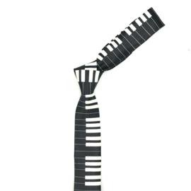 Stropdas Pianotoetsen Zwart