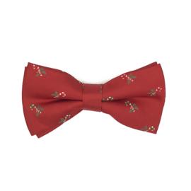 Luxe Kerst Vlinderdas Rood Met Zuurstokjes