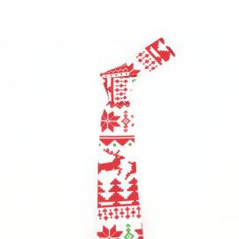 Luxe Kerst Stropdas Rood Klassiek