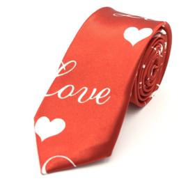 Stropdas Valentijn Rood 'Love'