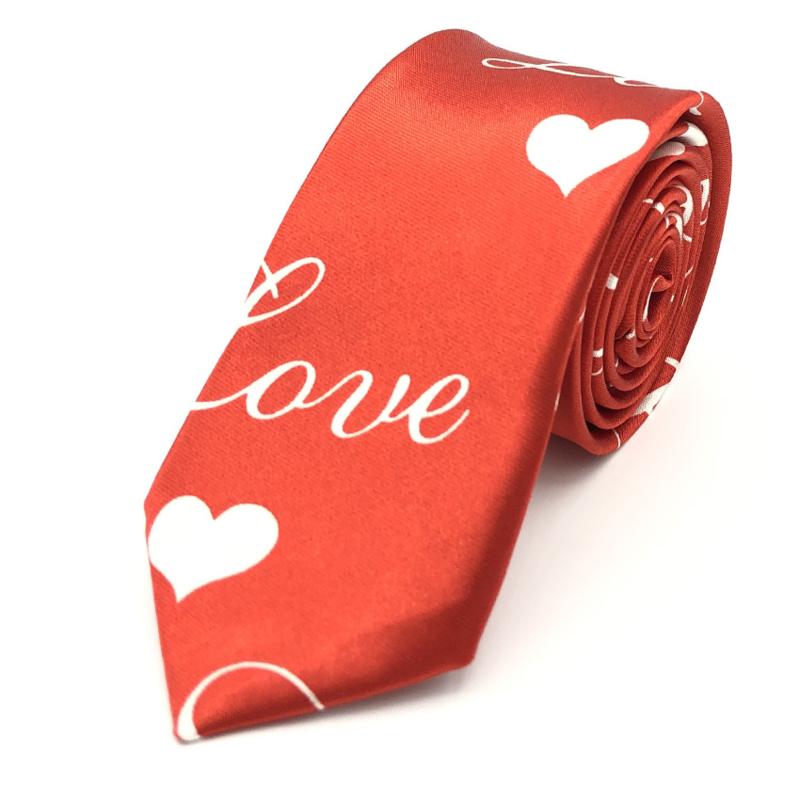 Carnaval & Feest Stropdas Valentijn Rood 'Love'