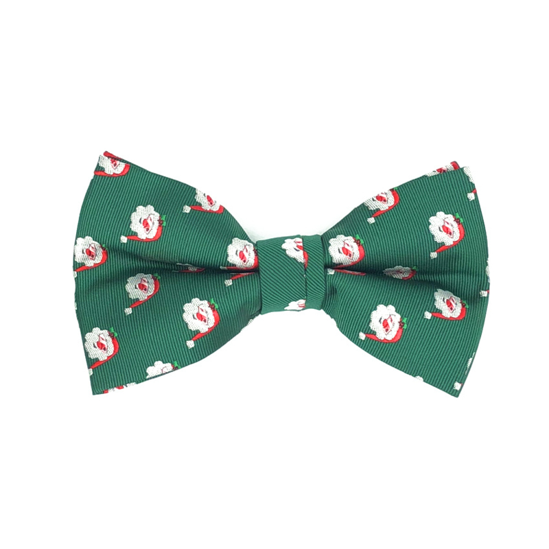 Kerst Vlinderdas Kerstman Groen