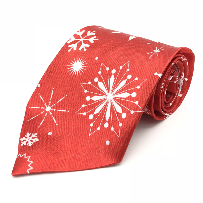 Kerst Stropdas Sneeuwvlokken