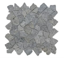 Gebroken marmer Interlocking mozaïekvloer licht grijs