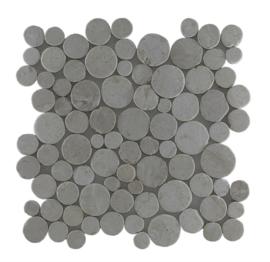 Marmor runde coin Weiß