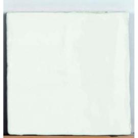 Handvorm Craquelee Antic wit 13x13 cm