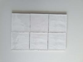 Zelliges Blanc de Lin 10x10 cm