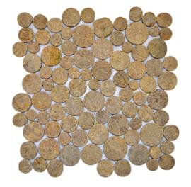 Marmer munten mozaïekvloer sunset bruin - Coin
