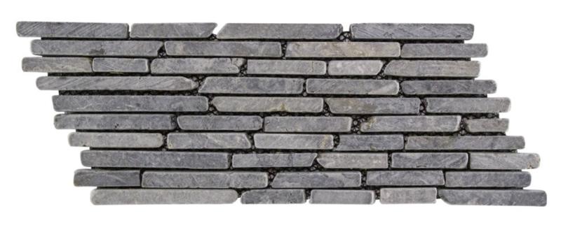Marmor-Streifen Sticks Grau