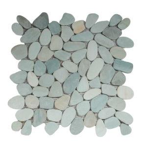 Riverstone pebble flat kiezelvloer groen