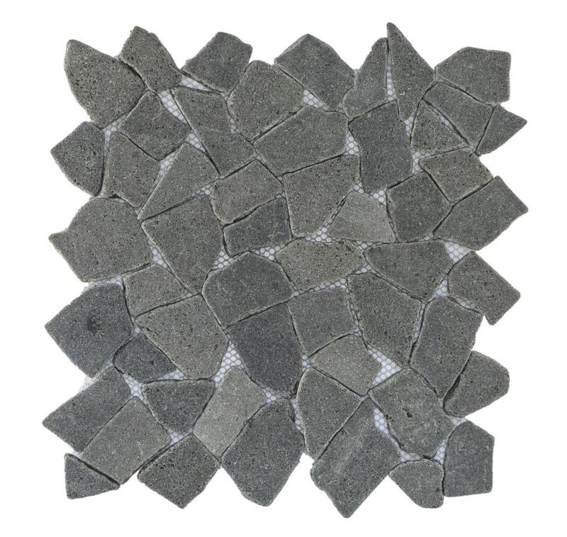 Gebroken marmer Interlocking mozaïekvloer zwart