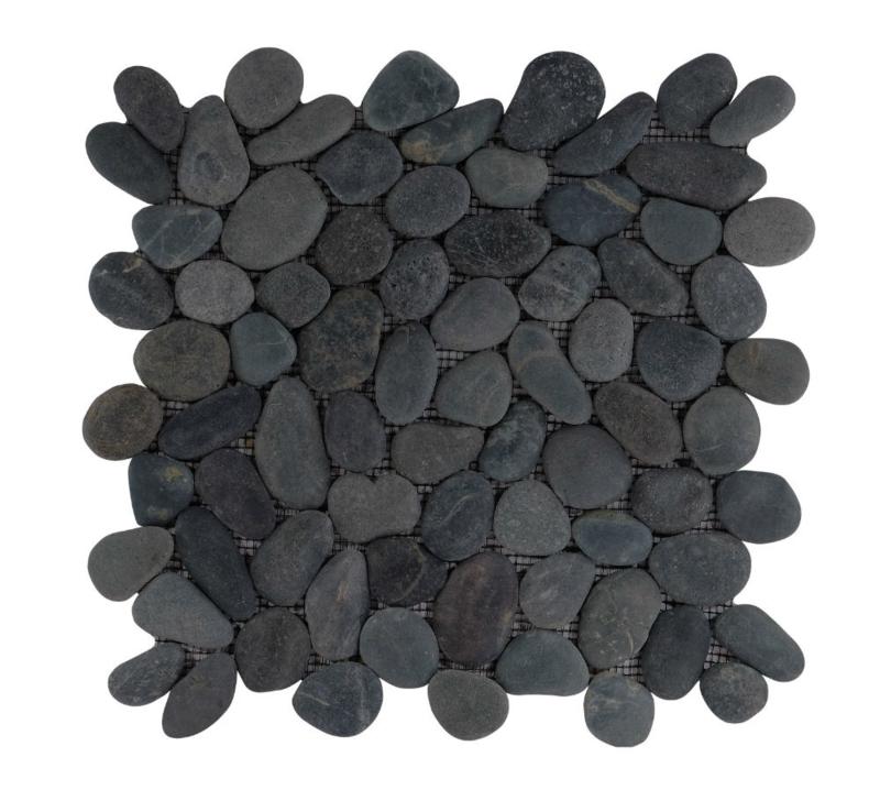 Riverstone pebble kiezelvloer zwart