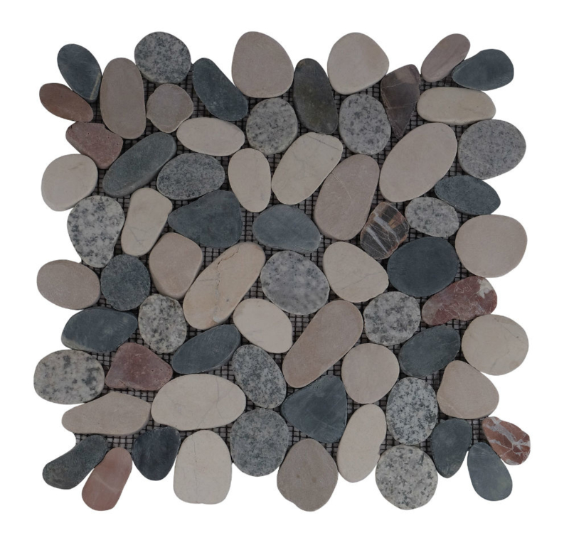 Riverstone pebble flat kiezelvloer mix