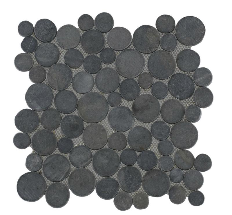 Marmer munten mozaïekvloer grijs - Coin