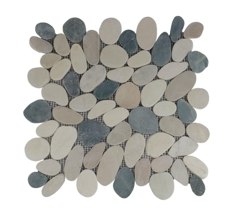 Riverstone pebble flat kiezelvloer grijs /bruin