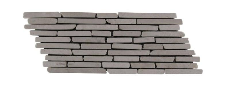 Marmor-Streifen Sticks Weiß
