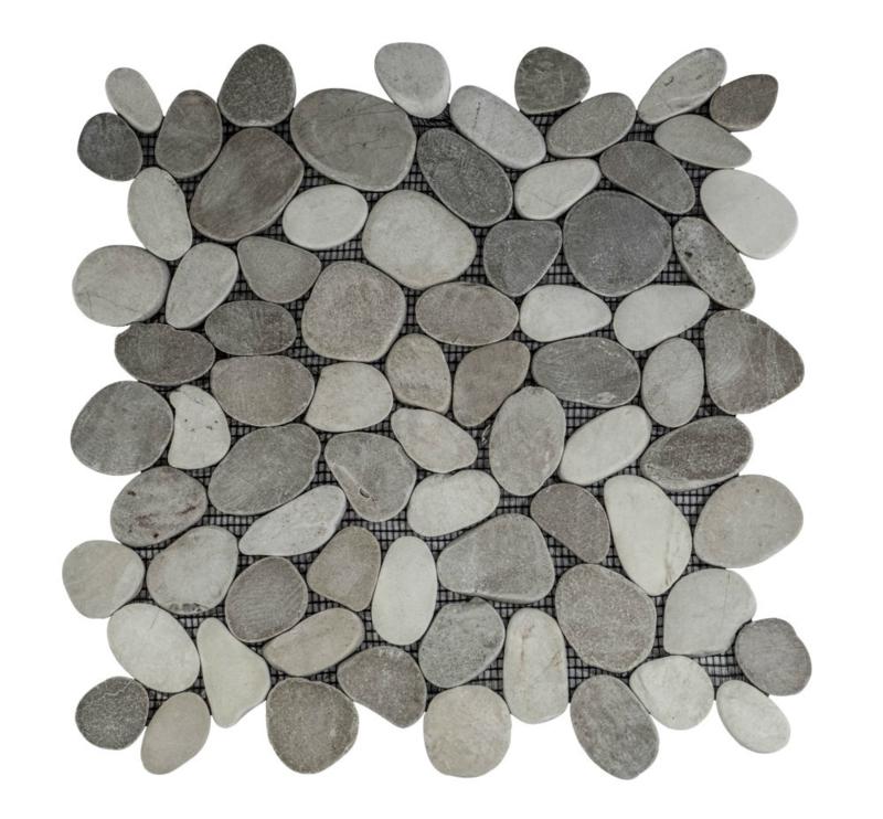 Riverstone pebble flat kiezelvloer bruin-creme