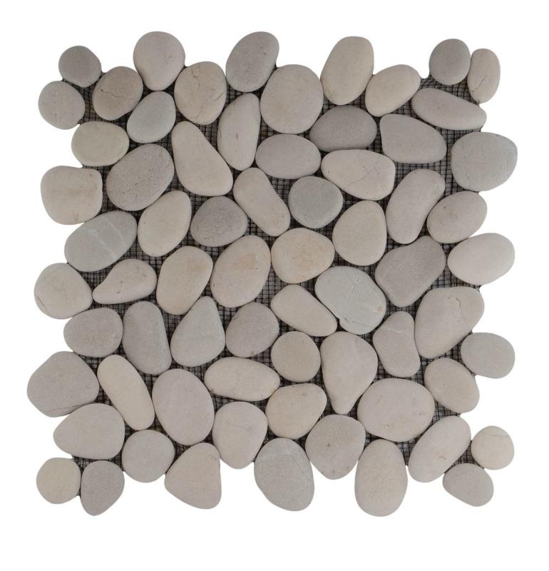 Riverstone pebble kiezelvloer mix creme / tan