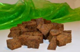 Gekruide kip dobbelsteentjes met Chia-zaad