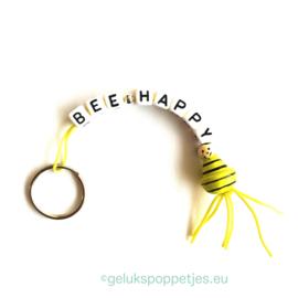 BEE-happy gelukspoppetjes sleutelhanger met bijtje
