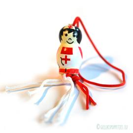 Gelukspoppetje verpleegster Diana
