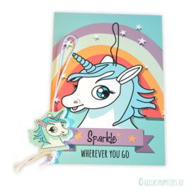 Unicorn gelukspoppetjes kaartje