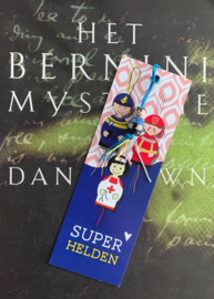 Superhelden geluksboekenlegger