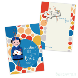 "Gelukspost kaartje ""sending you a little love"""